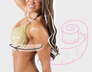How to Measure under the bust for Competition Bikini Vicky Ross Fit