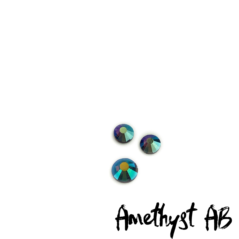 Amethyst AB Volcano competition bikini crystal