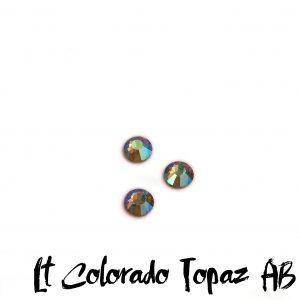 Lt Colorado Topaz AB competition bikini crystal