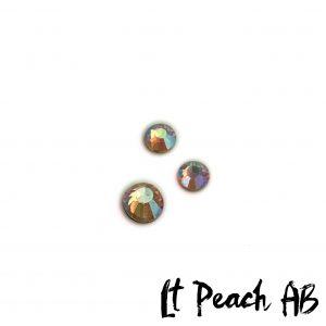 Lt Peach AB competition bikini crystal