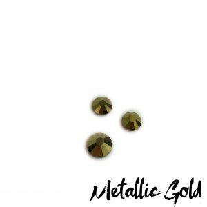 Metallic Gold competition bikini crystal