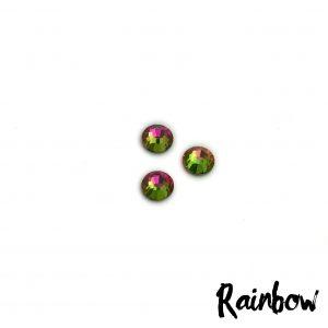 Rainbow competition bikini crystal