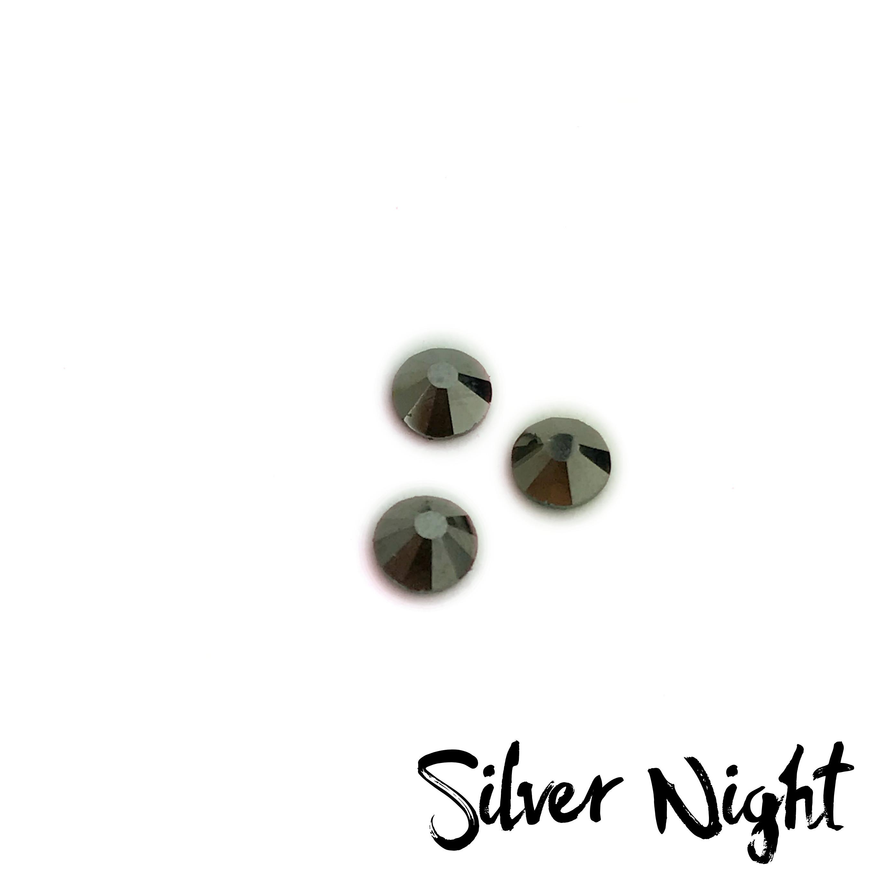 Silver Night competition bikini crystal