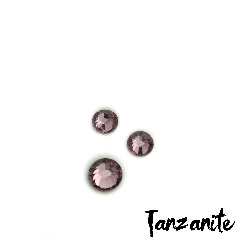 Tanzanite competition bikini crystal