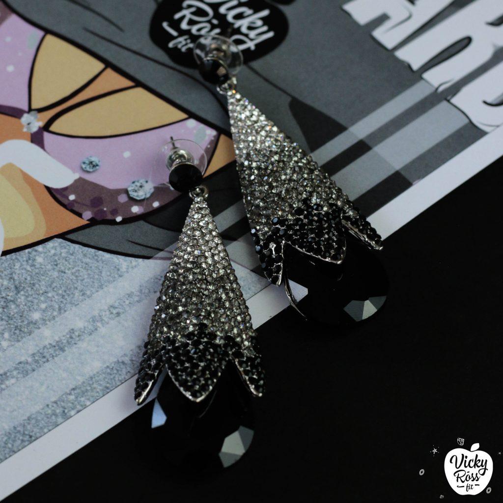 Black Ombre Bikini Competition Earrings | Black Diamond