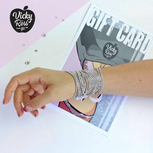 Silver Clear Crystal Bracelet
