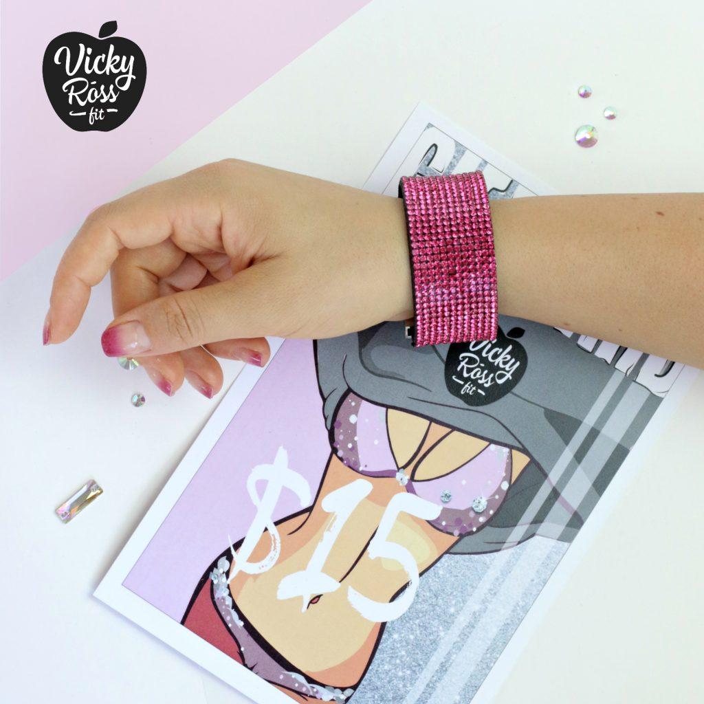 Fuchsia Pink Crystal Bracelet | Rhinestone Jewelry