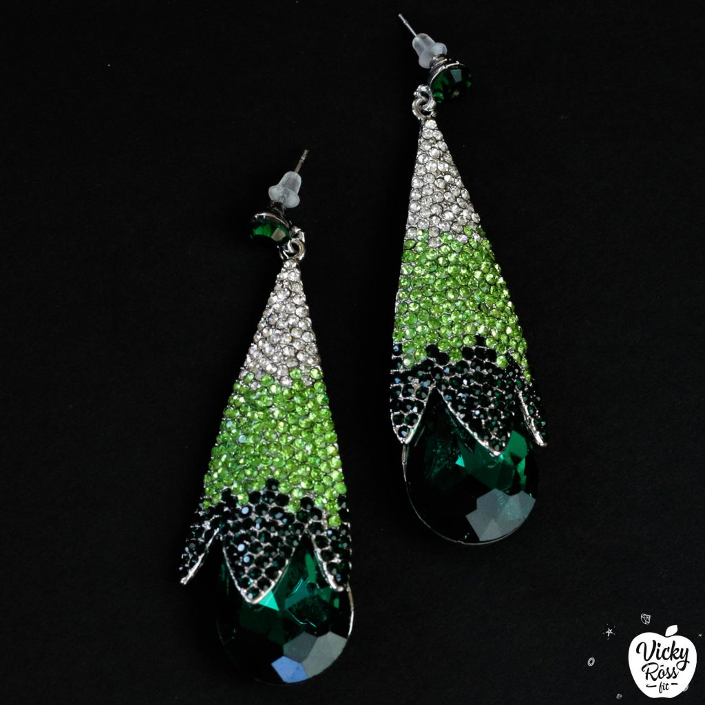 Emerald Ombre Bikini Competition Earrings | Emerald Diamond