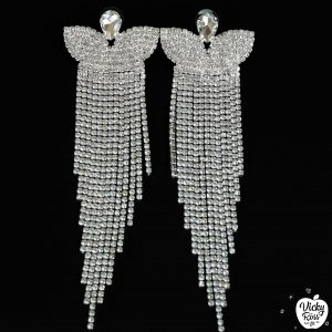 clear crystal competition earrings