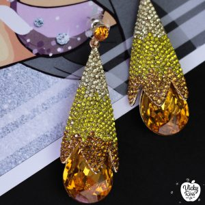 citrine ombre bikini competition earrings
