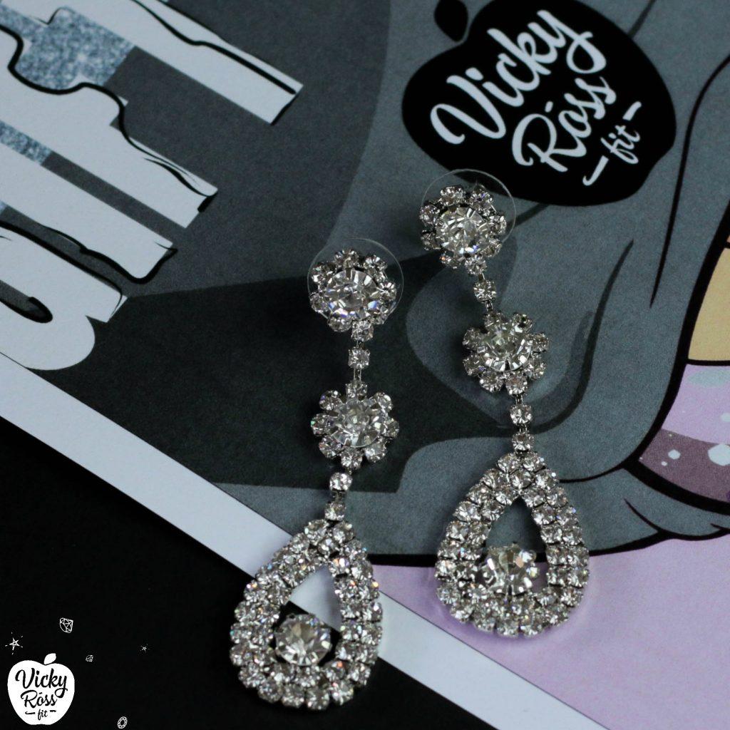 Crystal Bikini Rhinestone Earrings    Competition Jewelry