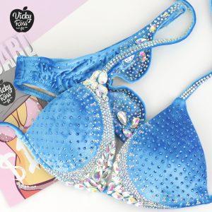 sky blue designer bikini