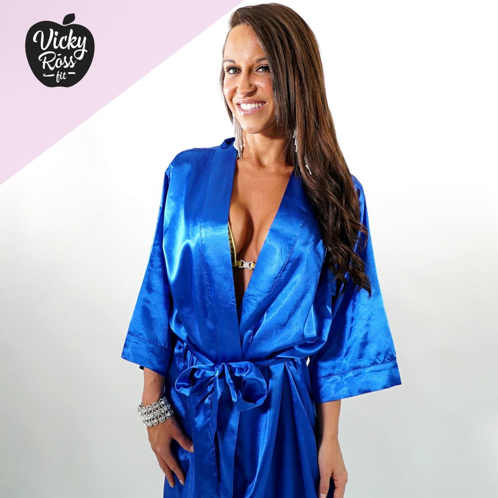 Satin Blue Competition Robe | Bikini & Figure Competition Robe