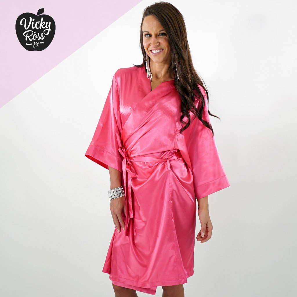 Satin Fuchsia Pink Competition Robe | Bikini & Figure Competition Robe