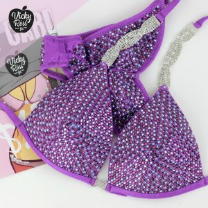 Violet Crystal Competition Bikini Suit