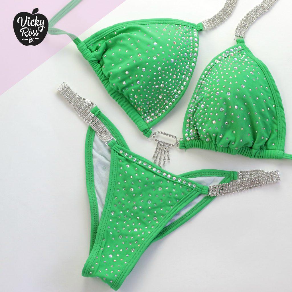 Like new Vs green bikini w/gold hardware   Green bikini, Bikinis, Like new