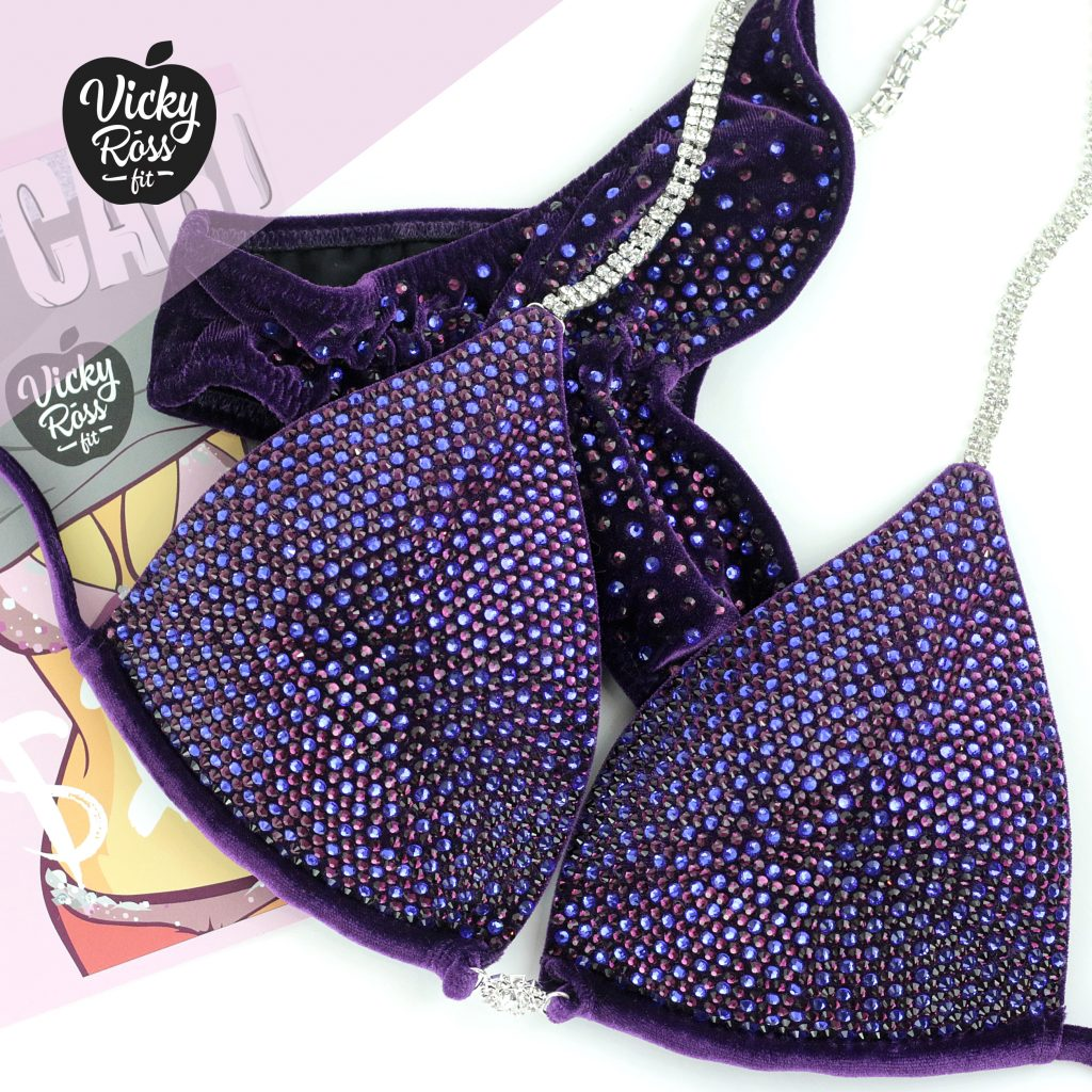 Amethyst Purple Crystal Competition Bikini Suit