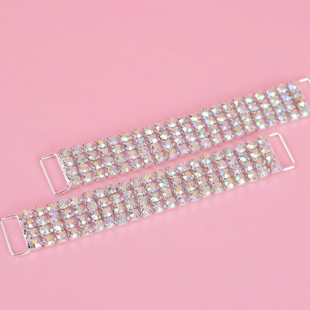 AB Sparkling Crystal Connectors | Top Bikini Connectors