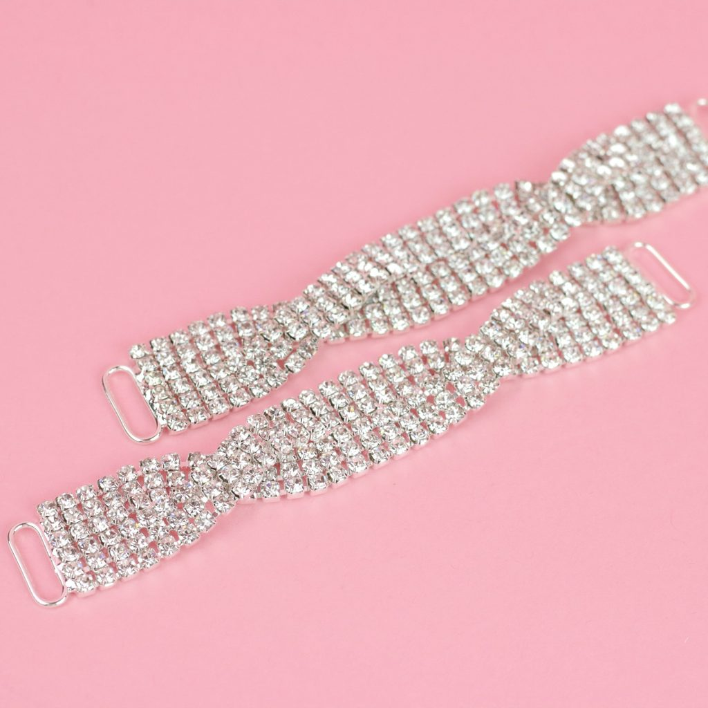 Sparkling Clear Crystal Connectors | Top Bikini Connectors