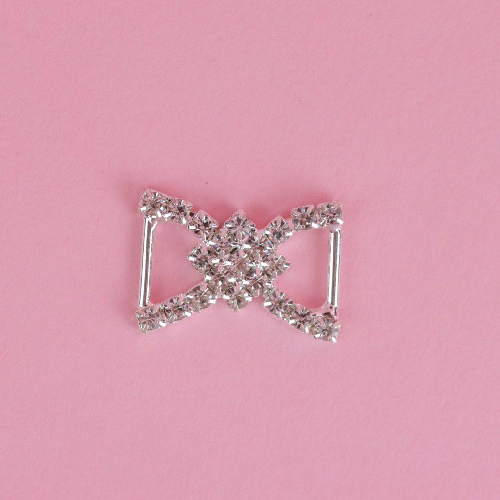 Silver Bikini Rhinestone Connector | Middle Bikini Connectors