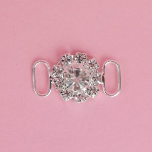 Round Flower Style Crystal Connector