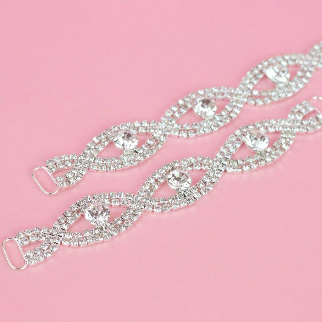 Silver Competition Bikini Connectors | Top Bikini Connectors