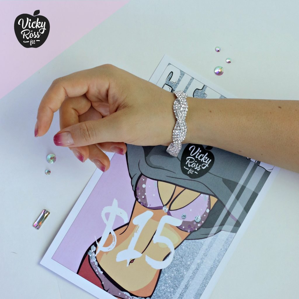 NPC IFBB Crystal Bracelet | Rhinestone Jewelry