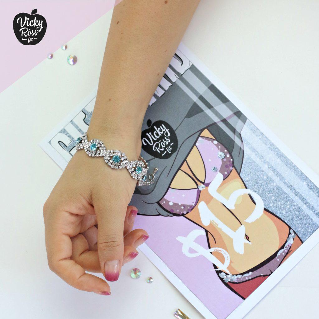 Sapphire Crystal Rhinestone Bracelet | Rhinestone Jewelry