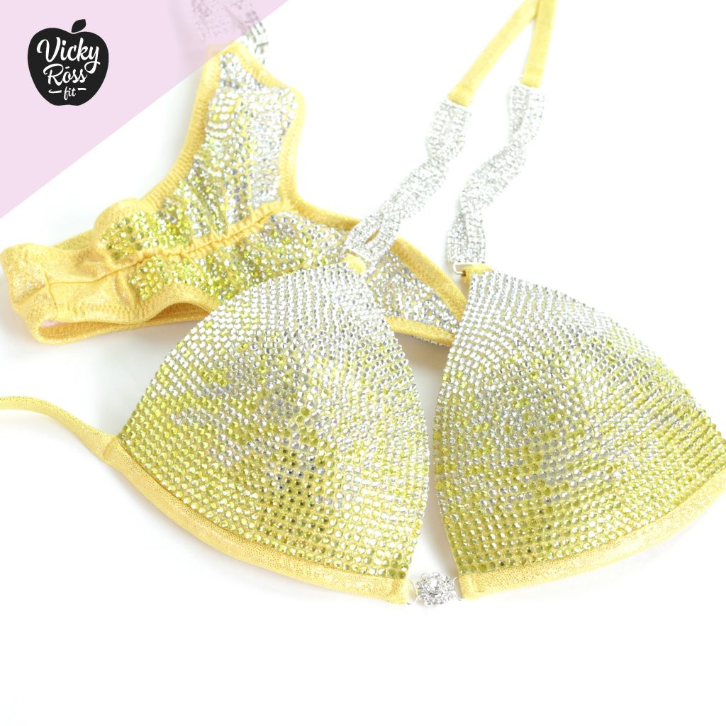 Yellow Ombre Bikini Competition Suit