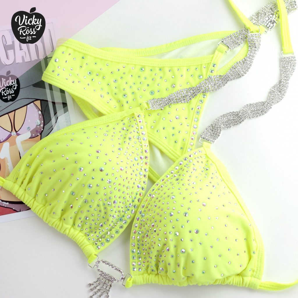 Neon Yellow Bikini Competition Suit | Fitness Bikini
