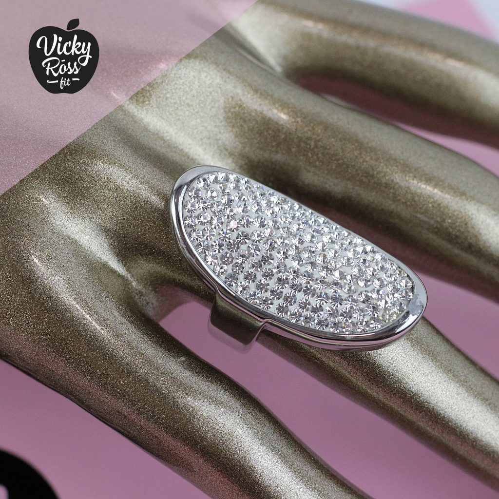 Clear Crystal Ring Clear Crystal High Quality Bikini Ring Crystal Competition Bikini Ring Competition Rings Vicky Ross Fit Bikini