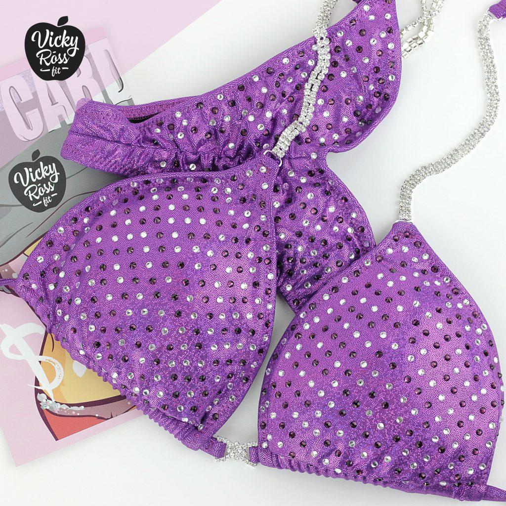 Purple Posing Bikini | NPC IFBB Bikini Suit