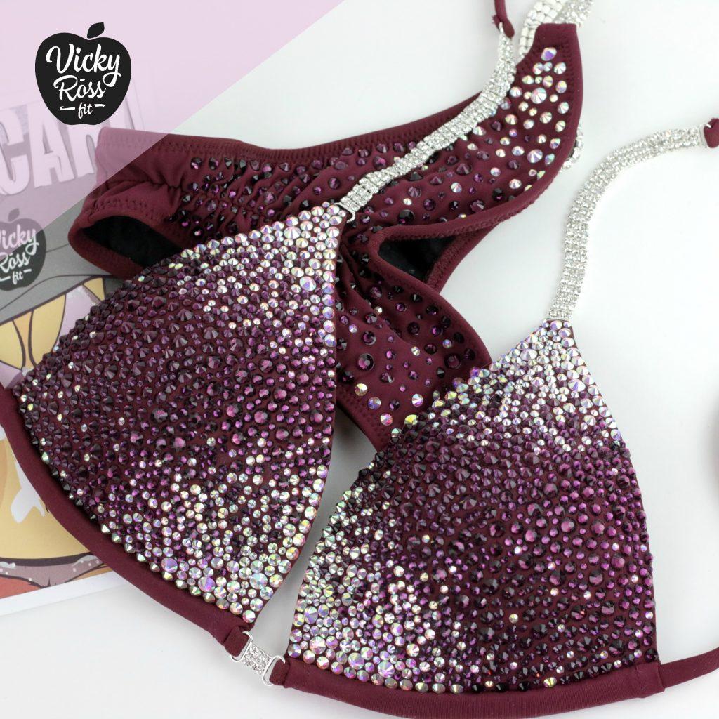 Star Dust Fitness Competition Bikini | Plum Vine