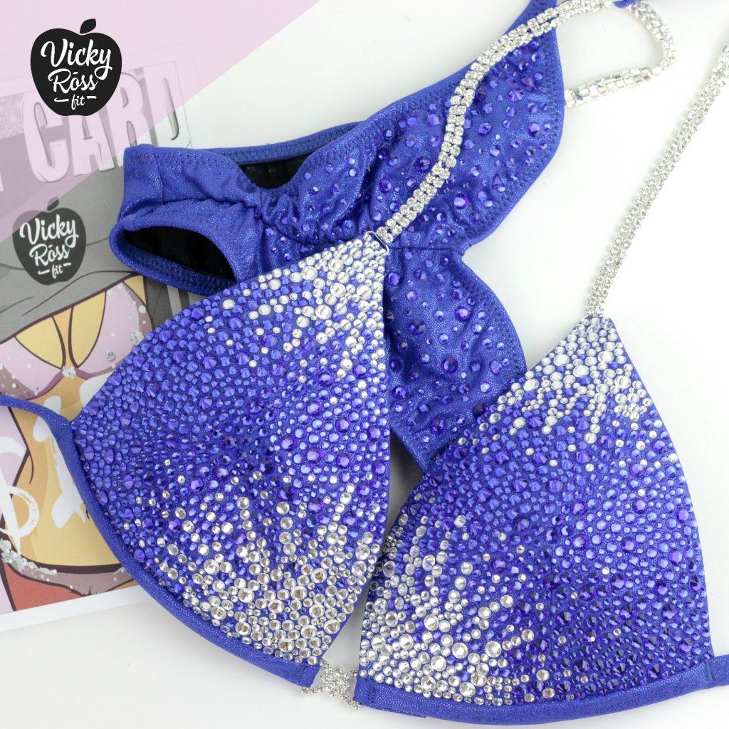 Blue Holographic Designer Suit | Star Dust Bikini