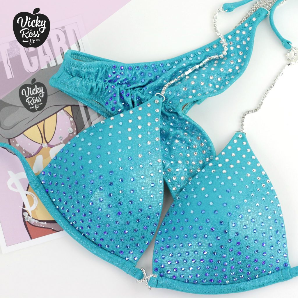 Ombre Bikini Fitness Suit | Turquoise NPC IFBB Bikini