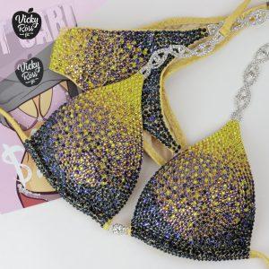 Yellow Ombre Competition Bikini
