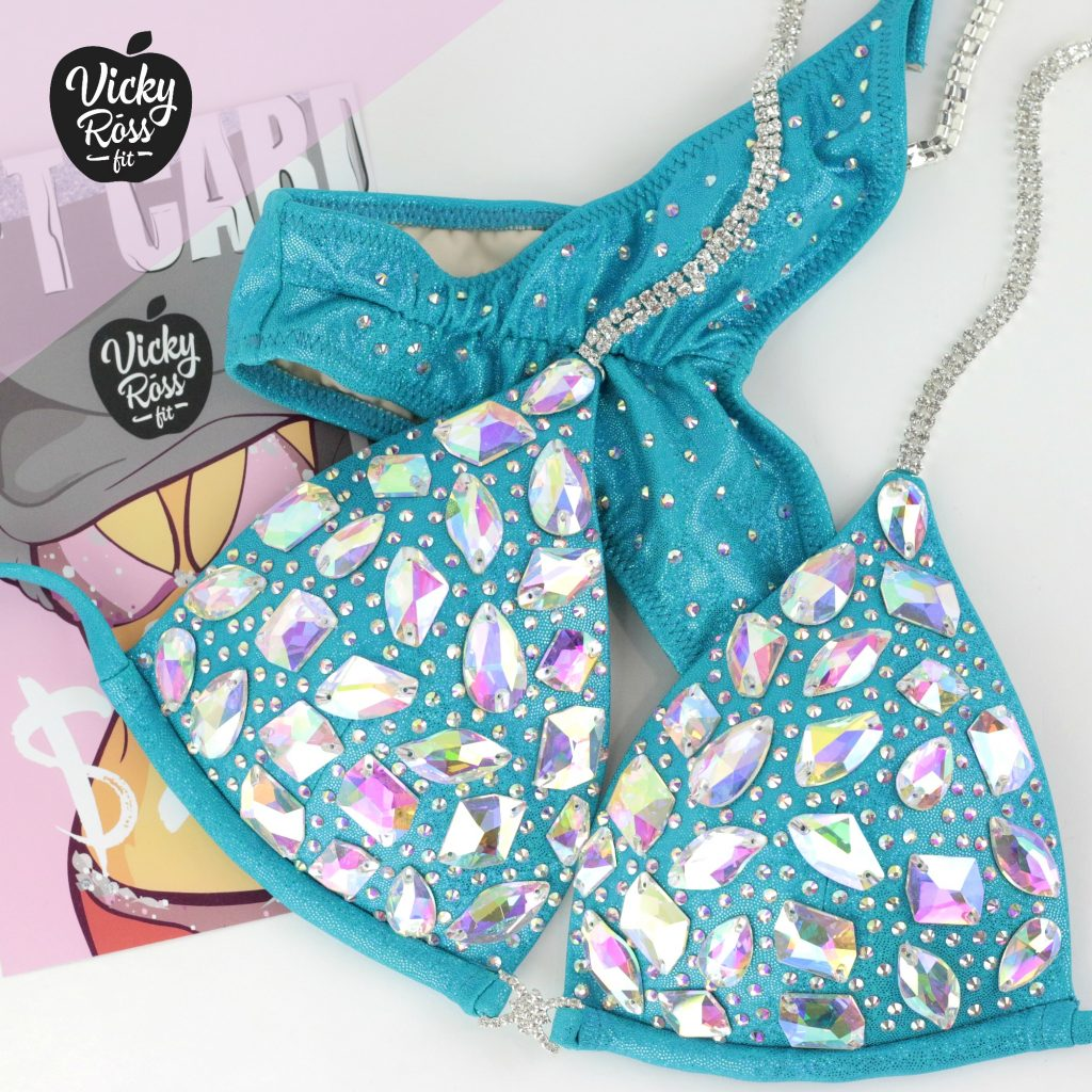 AB Turquise Crystal Bikini   Diamond Diva Bikini