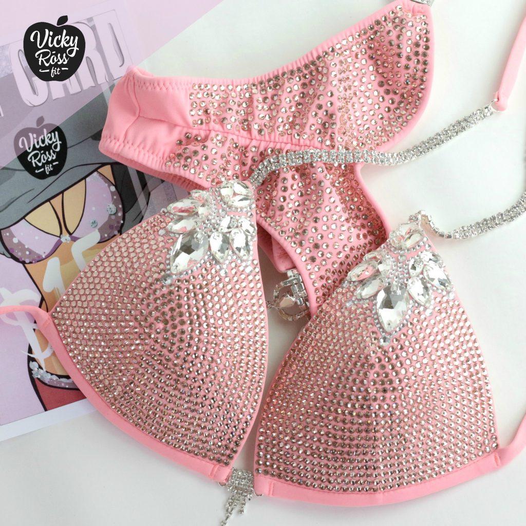 Crystal Designer Bikini | La-la-Diva Peach Bikini