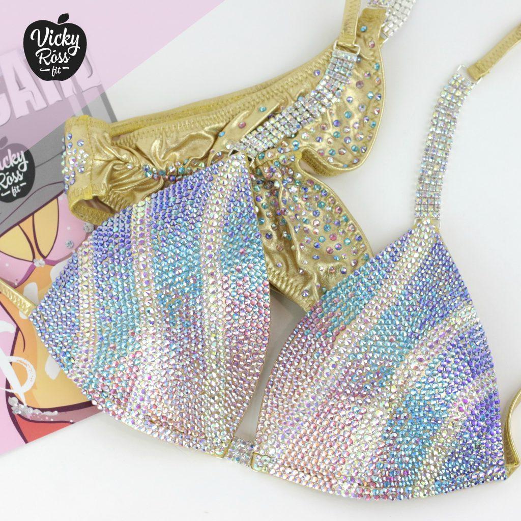 Fitness Bikini Crystal Suit | Mermaind AB Ombre Bikini