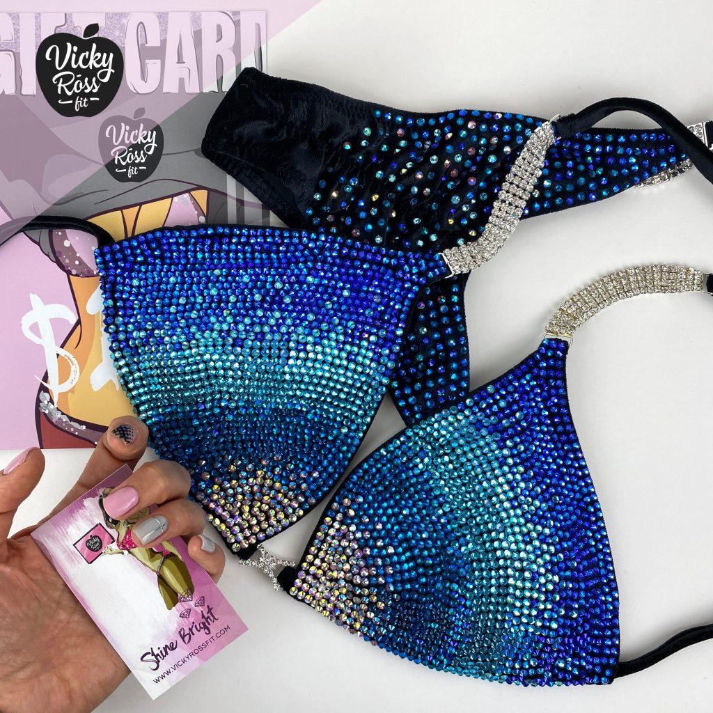 NPC Blue Bikini | Galaxy Gradient Blue Fitness Bikini