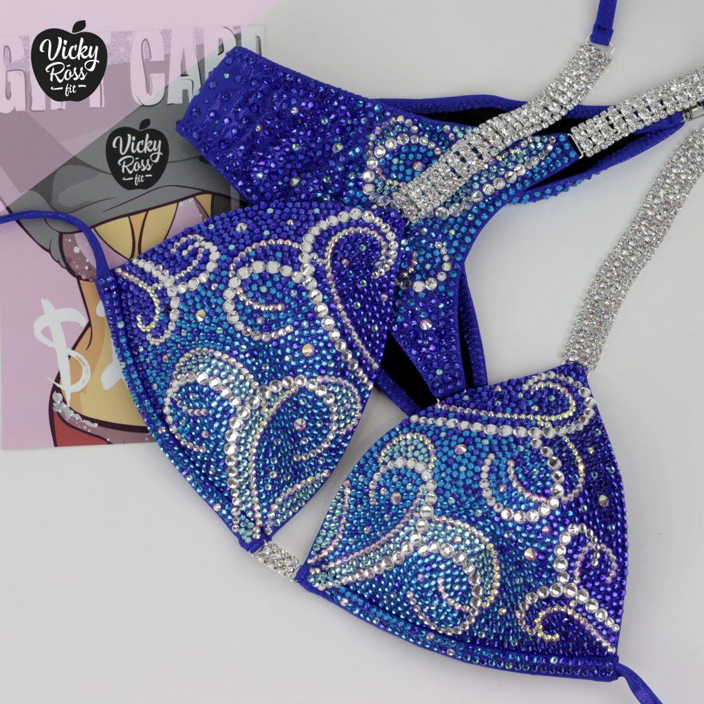 Blue Crystal Competition Bikini | Blizzard Crystal Bikini