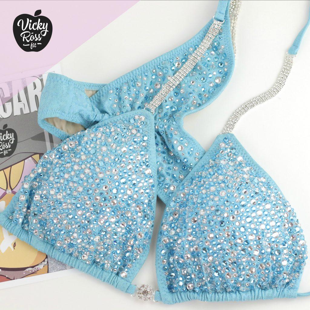 Baby Blue Bodybuilding Bikini | Scrunch Bikini
